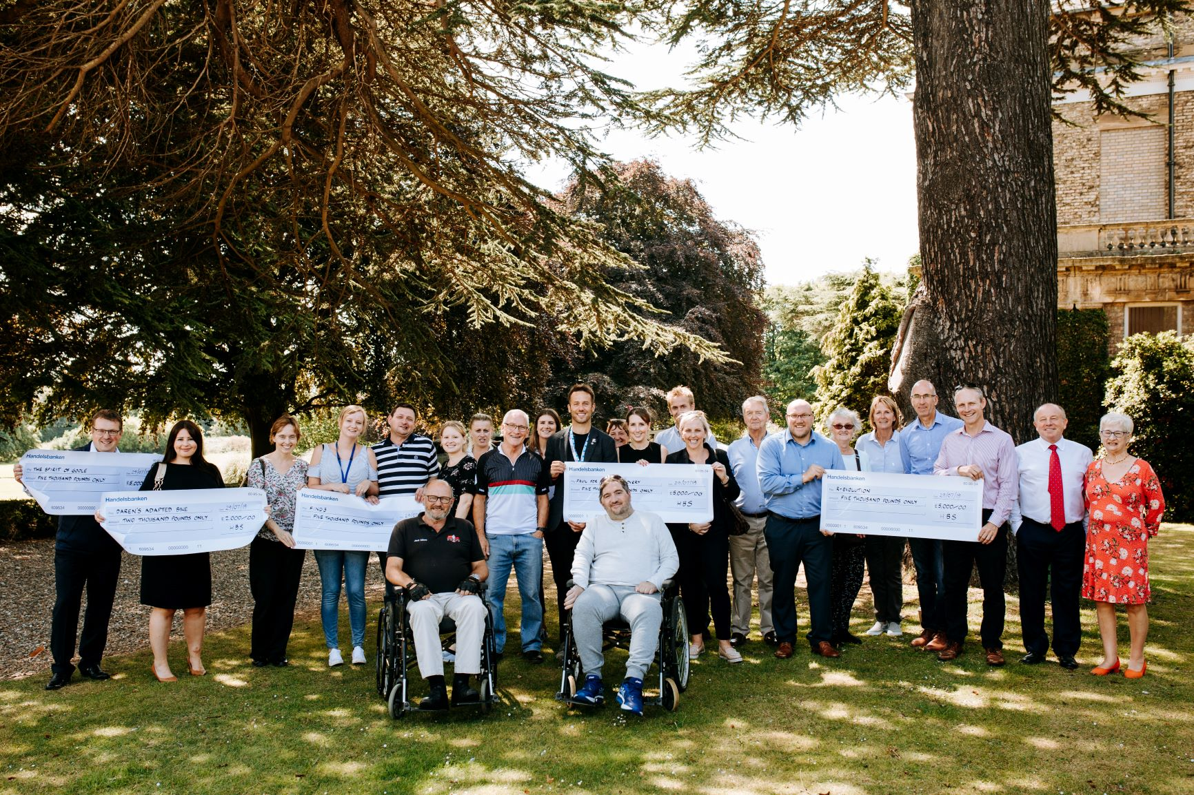 Humber Bridge Sportive Cheque Presentation